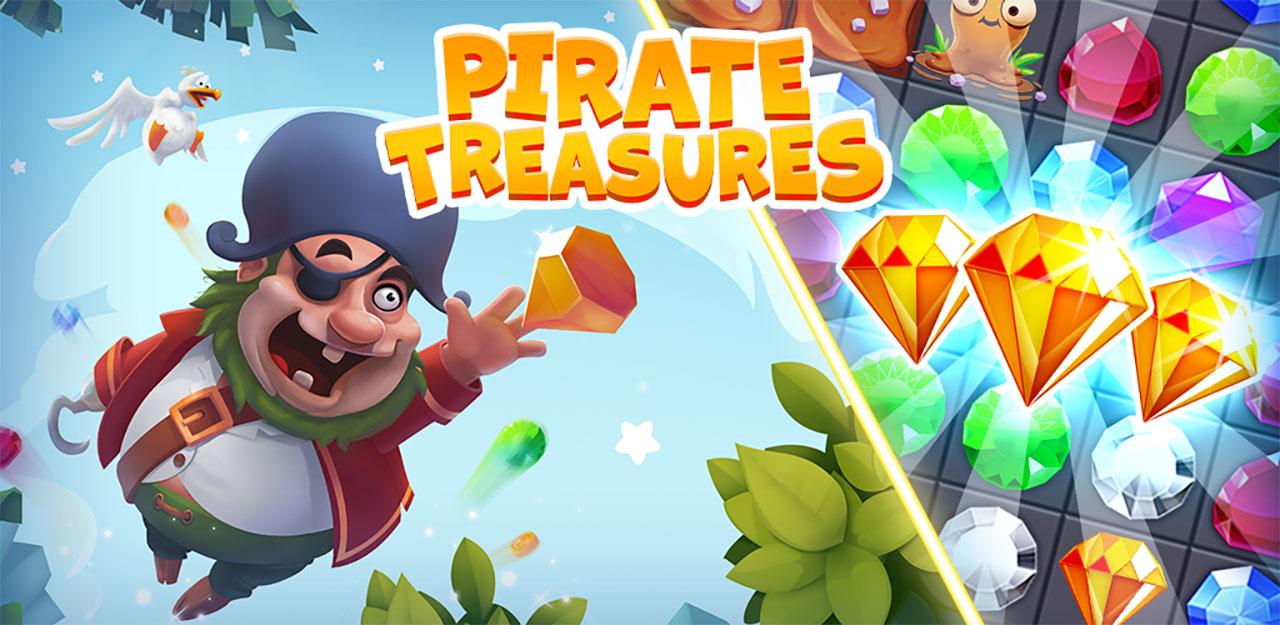 Pirate Treasures - Gems Puzzle Mod Apk