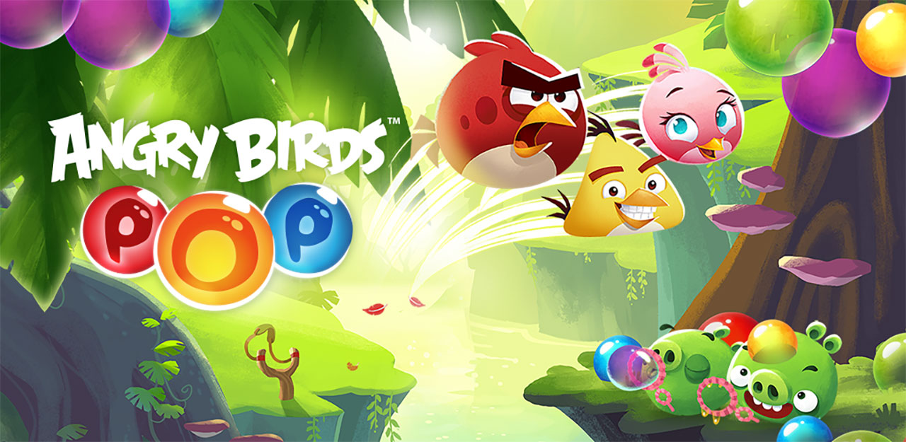 Angry Birds POP Bubble Shooter Cover Wallpaper