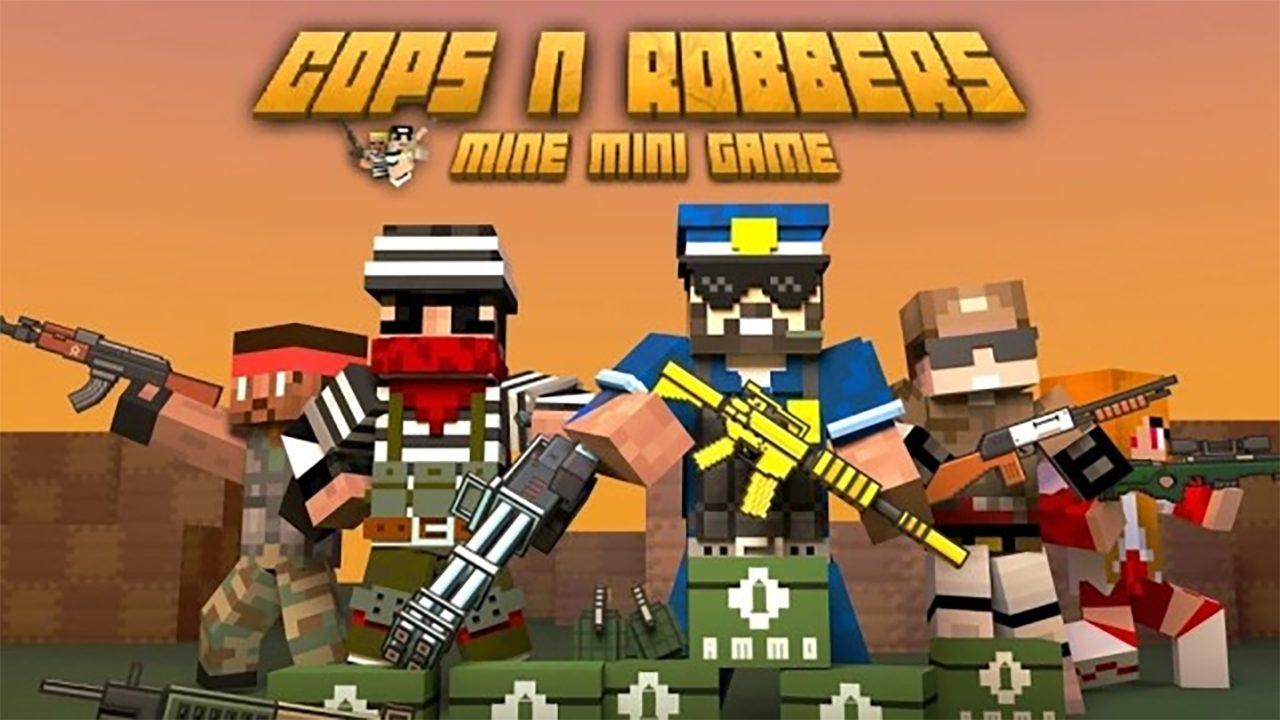 Cops N Robbers - 3D Pixel Craft Gun Shooting Games Mod Apk