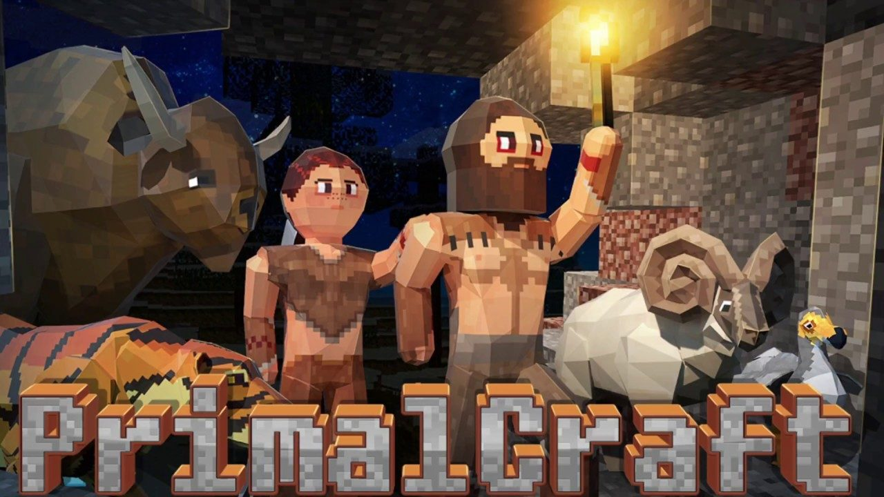 PrimalCraft Cubes Craft & Survive Game Mod Apk