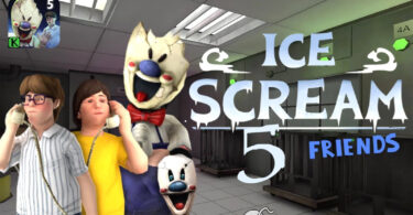 Ice Scream 5 Friends Mod Apk 1.1 (Unlimited Traps/Ammo, Dumb Enemies)