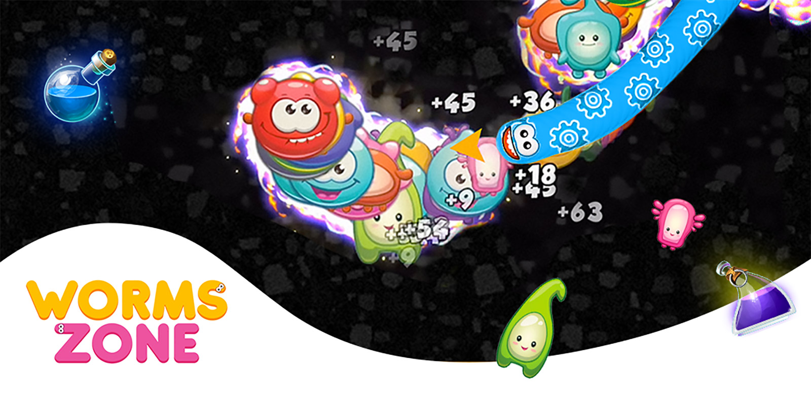 Worms Zone.io Mod Apk 2.2.3-a (Unlimited Coins/Skins Unlock)
